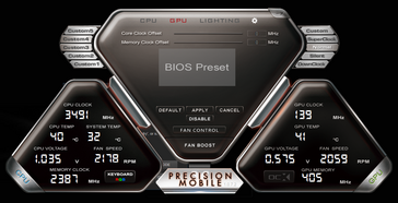 PrecisionX Mobile (System idle)