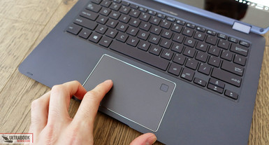 The trackpad comes with Microsoft Precision drivers. (Source: Ultrabookreview)