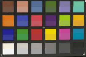 ColorChecker: the target color is displayed in the bottom are of each field.