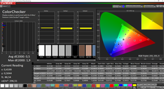 CalMAN ColorChecker calibrated (target color space sRGB)