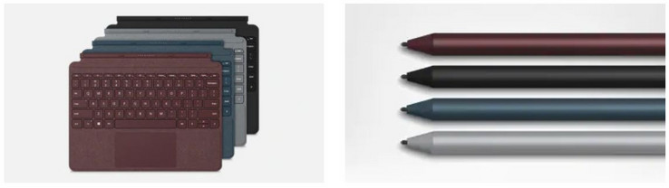 Microsoft Surface Go Signature Type Cover und Active Pen (Source: Microsoft)