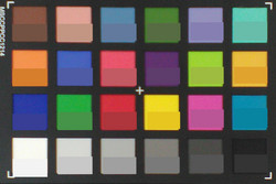ColorChecker: Reference color in the bottom half of each square