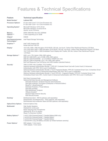 Latitude 5591 spec sheet w/ Intel vPro iAMT 12.0 (Source: Dell)