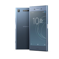The XZ1 comes in a soothing Moonlit Blue. (Source: Sony)