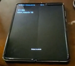 The Samsung Galaxy Fold has a 7.3-inch main display. (Source: YouTube/phoneoftime)