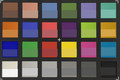 ColorChecker: The lower half of each area of color displays the reference color – telephoto lens