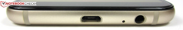 Bottom side: Micro-USB 2.0 port, headphone jack