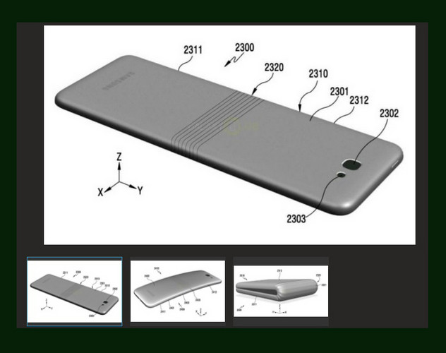 An earlier foldable display smartphone rumored to be the Galaxy X