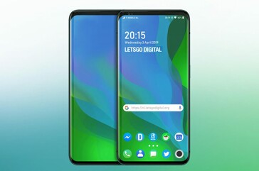Some mock-ups of how the alleged OPPO patent's phones may look. (Source: LetsGoDigital)
