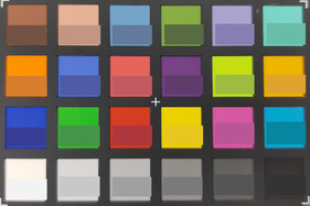 ColorChecker: The target color is displayed in the bottom half of each field.
