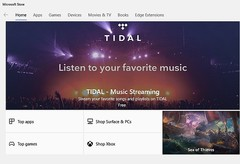 TIDAL music streaming app now available in the Microsoft Store (Source: own)