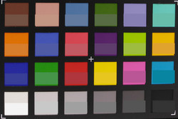 Color checker: The bottom half of every field shows the original color.