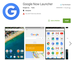 The Google Now Launcher has been a popular option for Android OEMs and users. (Source: Google Play Store)