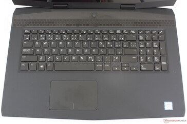 Layout has changed dramatically from the Alienware 17 to be more like a typical Ultrabook