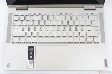 Identical key layout as on the Yoga C940 save for the speaker grilles along the sides