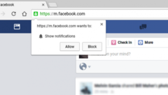 An example of a notification prompt in Chrome. (Source: Gadgets To Use)