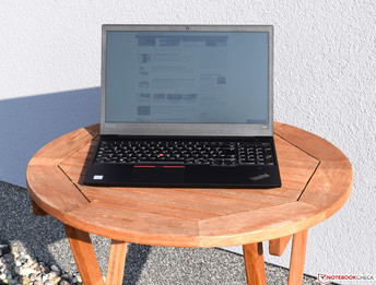 Lenovo ThinkPad E580 in sunlight