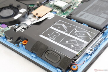 Secondary HDD bay sits underneath the right palm rest
