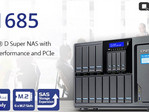 QNAP TS-1685 Super NAS for business with Intel Xeon D processor and 16 drive bays