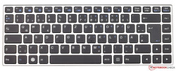 Keyboard of the Tuxedo InfinityBook Pro 13 2017