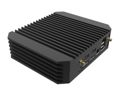 The fanless design includes heat-dissipating fins made of aluminum. (Source: Tranquil)