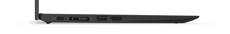 New docking-connector (second port from the left) combines USB C with a proprietary Ethernet port