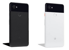 "Pixel 2 XL in ""Just Black"" and ""Black & White"" options. (Source: Droidlife)"