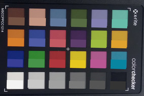 ColorChecker. Reference color in bottom half of each square