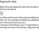 Windows 10 build 17093 delete diagnostic data option (Source: Windows Experience Blog)