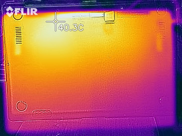 Thermal imaging of the ZenBook under load (bottom)