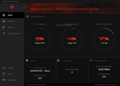 Omen Command Center: Main