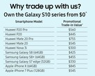A US$550 trade-in value for the Mate 20 Pro is a great offer. (Source: Samsung)