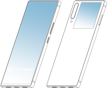 Some renders based on the alleged new ZTE patent. (Source: MobielKopen)
