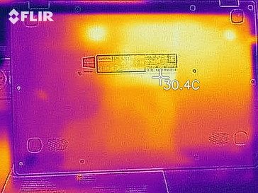Thermal-imaging of the bottom at idle