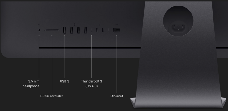 Ports of the iMac Pro (Picture: Apple)