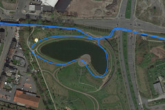 GPS test: Apple iPhone XR – Cycling around a lake
