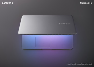 Samsung Notebook 5 Light Titan | view from above partially closed