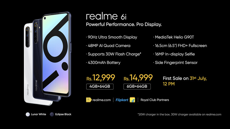 Realme 6i specs and price (image via Realme on Twitter)