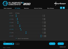 Sharkoon Light² 200 ultra light gaming mouse software - DPI Settings