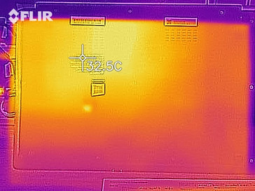 Heat development, bottom (idle)