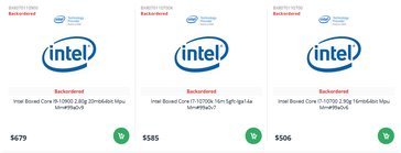 Comet Lake-S prices. (DirectDial via momomo_us)