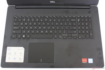 Keyboard backlight is not available on the lowest-end configuration. All SKUs lack a fingerprint reader unlike on the Inspiron 17 5770