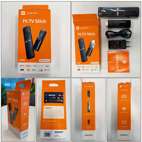 The FHD version and retail box of the Mi TV Stick. (Image source: Gizmochina via @Sudhanshu1414)