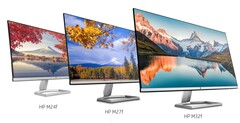 HP's new M-series FHD monitors, made from 85% recycled plastic. Image via HP