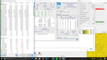 Stress: Prime95 on all cores - fluctuations from 2.8 to 3.4 GHz at max. 95 °C