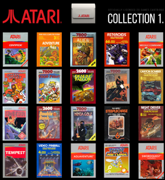 List of Atari games. (Image source: Evercade)