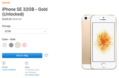 The 32 GB gold and rose-gold iPhone SE smartphones are currently available. (Source: Apple)