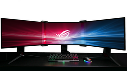 The Asus bezel-free kit removes borders between displays. (Source: Asus)
