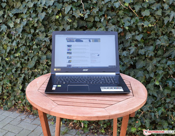 Acer Aspire 5 A517-51G in the shade