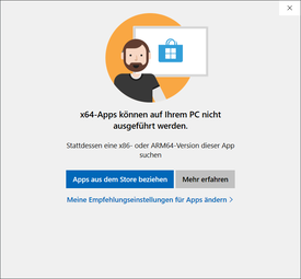 64-bit apps are not supported